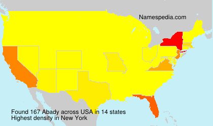 Surname Abady in USA