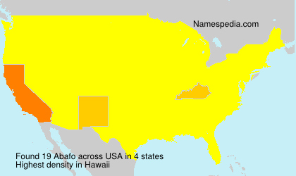 Surname Abafo in USA