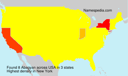 Surname Abagyan in USA