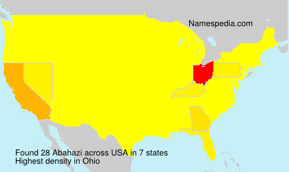 Surname Abahazi in USA