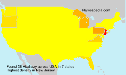 Surname Abahazy in USA