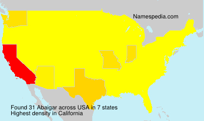 Surname Abaigar in USA