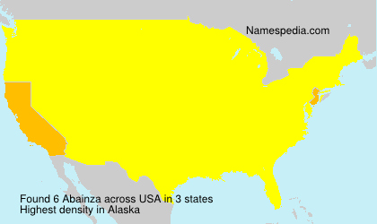 Surname Abainza in USA