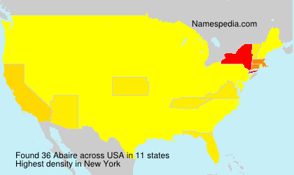 Surname Abaire in USA