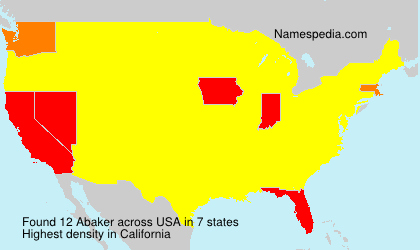 Surname Abaker in USA
