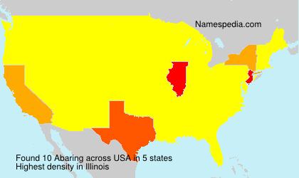 Surname Abaring in USA