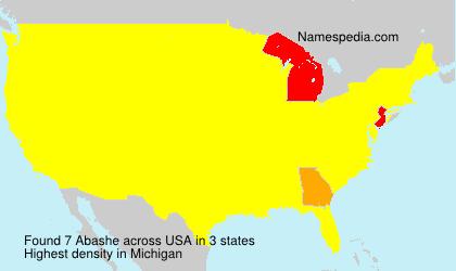Familiennamen Abashe - USA