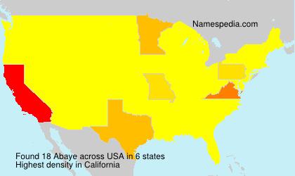Surname Abaye in USA