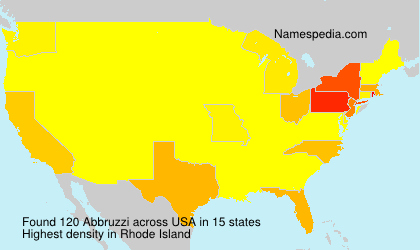 Familiennamen Abbruzzi - USA