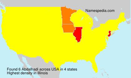 Surname Abdalhadi in USA