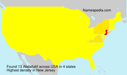 Surname Abdallatif in USA