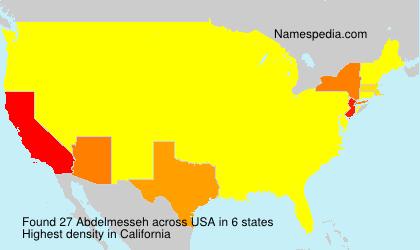 Surname Abdelmesseh in USA
