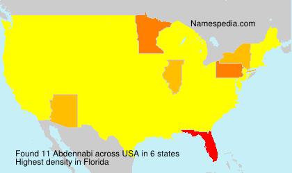 Surname Abdennabi in USA