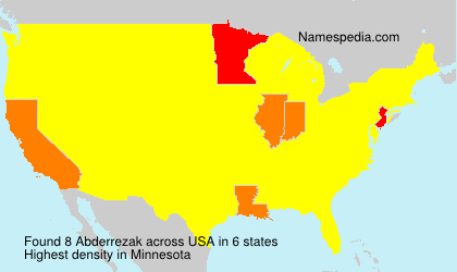 Surname Abderrezak in USA