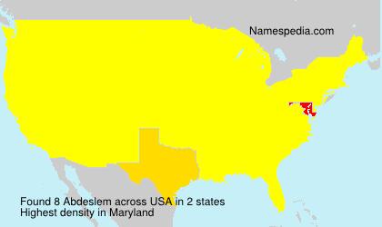 Surname Abdeslem in USA