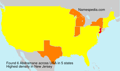 Surname Abdramane in USA
