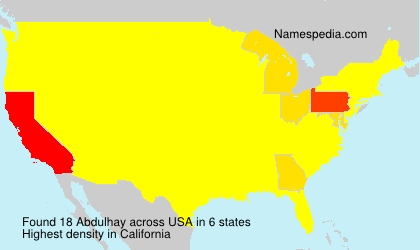 Surname Abdulhay in USA