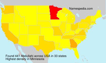 Familiennamen Abdullahi - USA