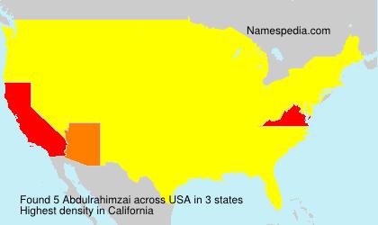 Surname Abdulrahimzai in USA