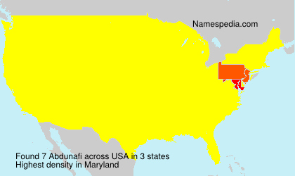 Surname Abdunafi in USA
