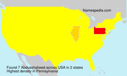 Familiennamen Abdusshaheed - USA