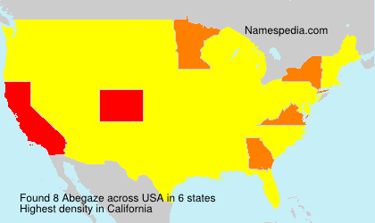 Surname Abegaze in USA