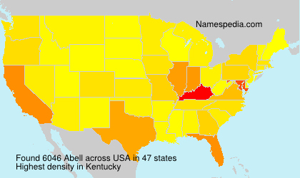 Surname Abell in USA
