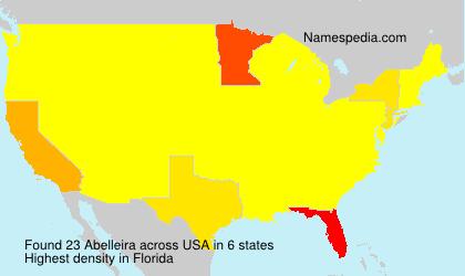 Surname Abelleira in USA