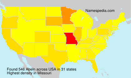 Surname Abeln in USA