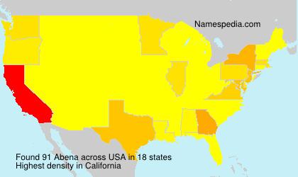 Surname Abena in USA