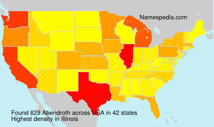 Surname Abendroth in USA
