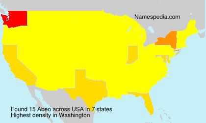 Familiennamen Abeo - USA