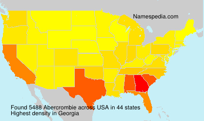 Surname Abercrombie in USA