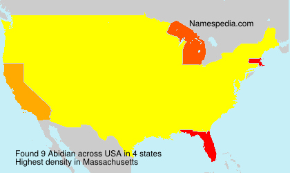 Surname Abidian in USA