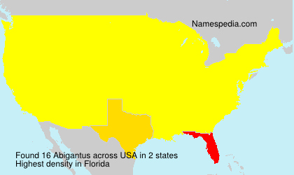 Surname Abigantus in USA