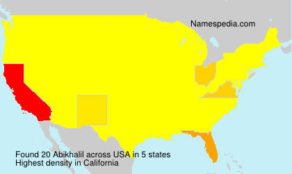 Surname Abikhalil in USA