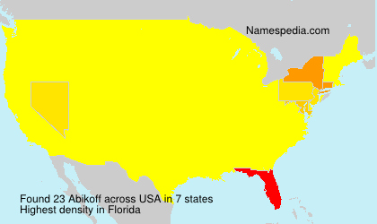 Surname Abikoff in USA