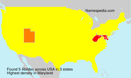 Surname Abildso in USA