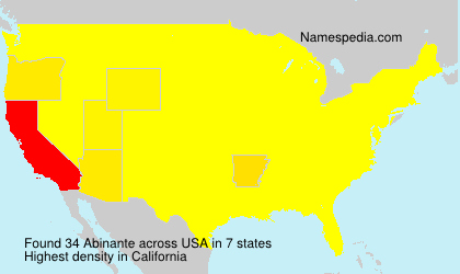 Surname Abinante in USA
