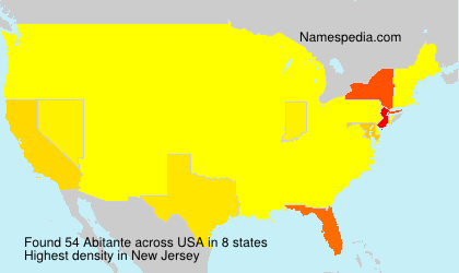 Surname Abitante in USA
