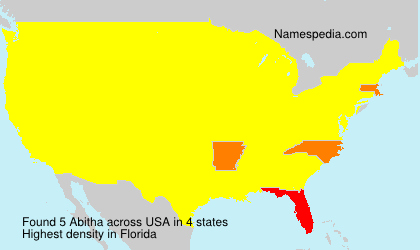 Surname Abitha in USA