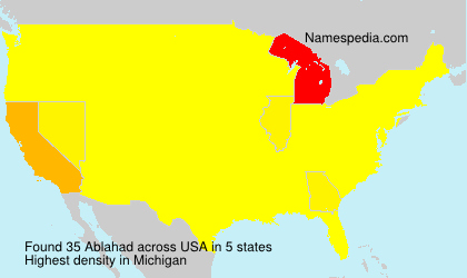 Surname Ablahad in USA