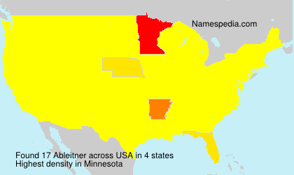 Surname Ableitner in USA