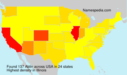 Surname Ablin in USA