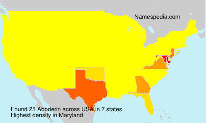 Surname Aboderin in USA