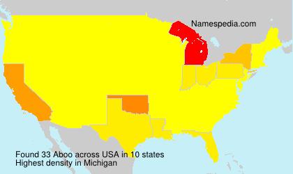 Familiennamen Aboo - USA