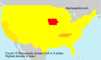 Surname Abouassaly in USA