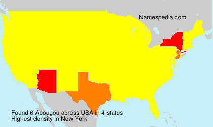 Surname Abougou in USA