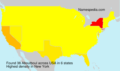 Surname Aboutboul in USA