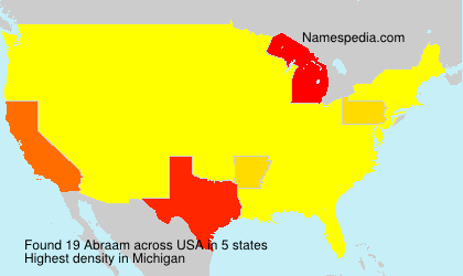 Surname Abraam in USA